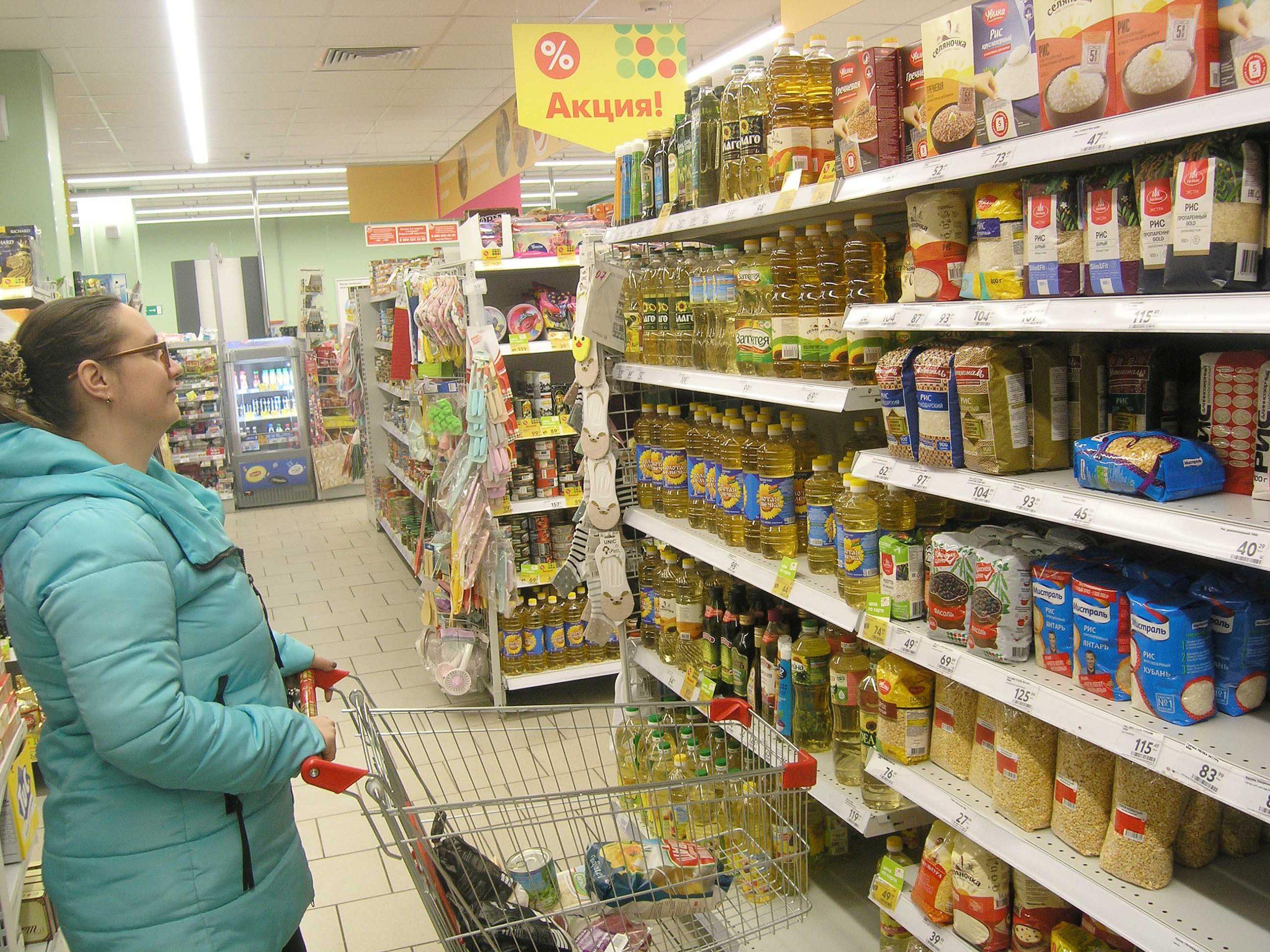 «Проживем на картошке» Козельчане не торопятся опустошать прилавки магазинов