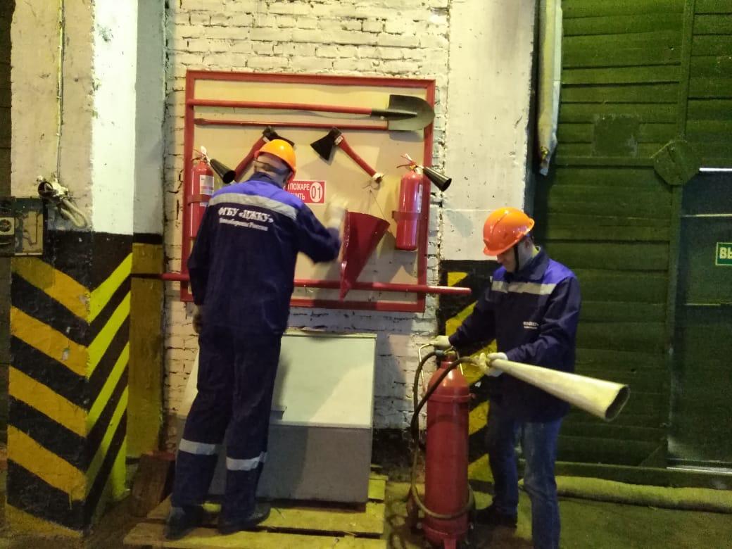 Жилищно-коммунальная служба козельской войсковой части провела противопожарную подготовку
