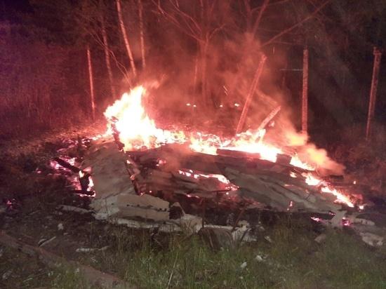 В сарае в Березичском сгорел мужчина