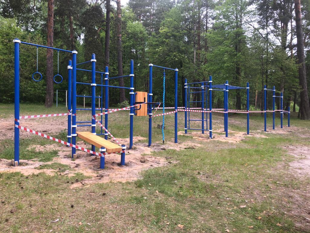 В селе Березичский стеклозавод появилась новая спортивная площадка