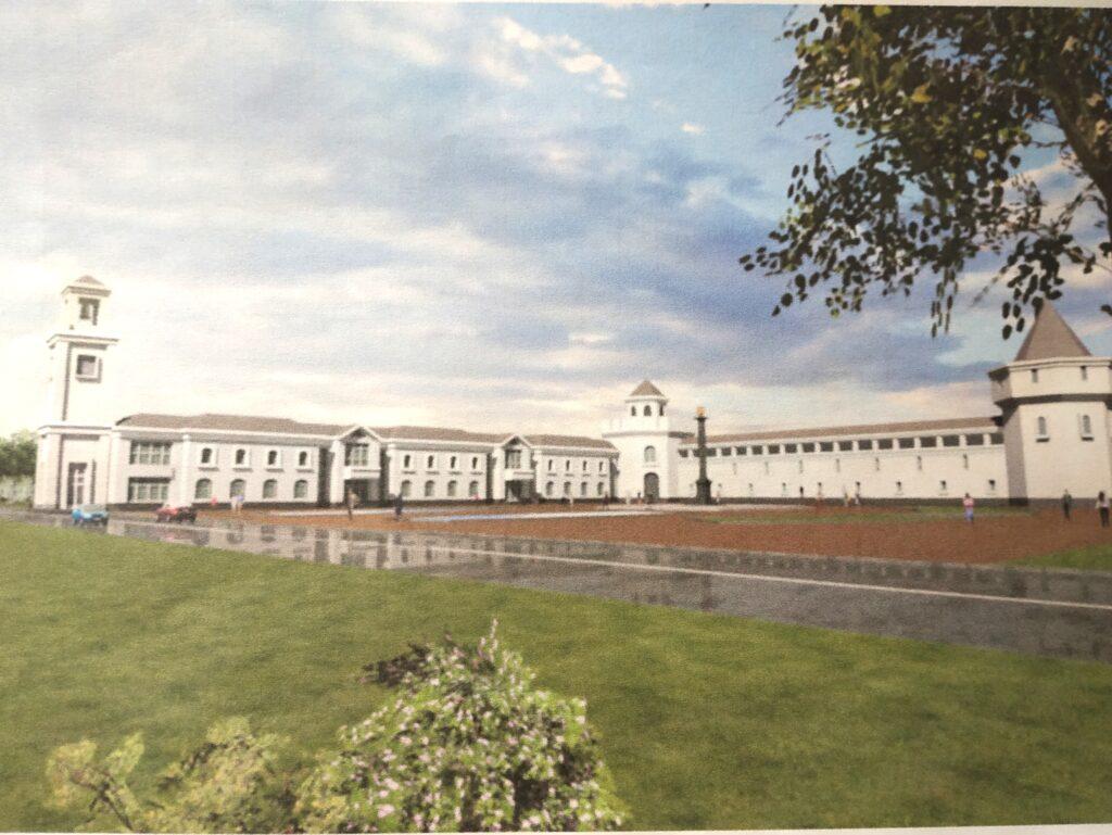 """На площади Воинской славы появится крепостная стена с башнями и диорама """"Оборона  Козельска"""""""