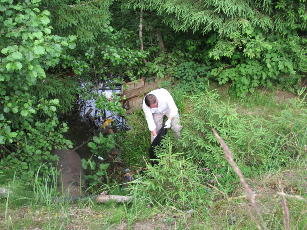 уборка Солдатского пруда в Сосенском