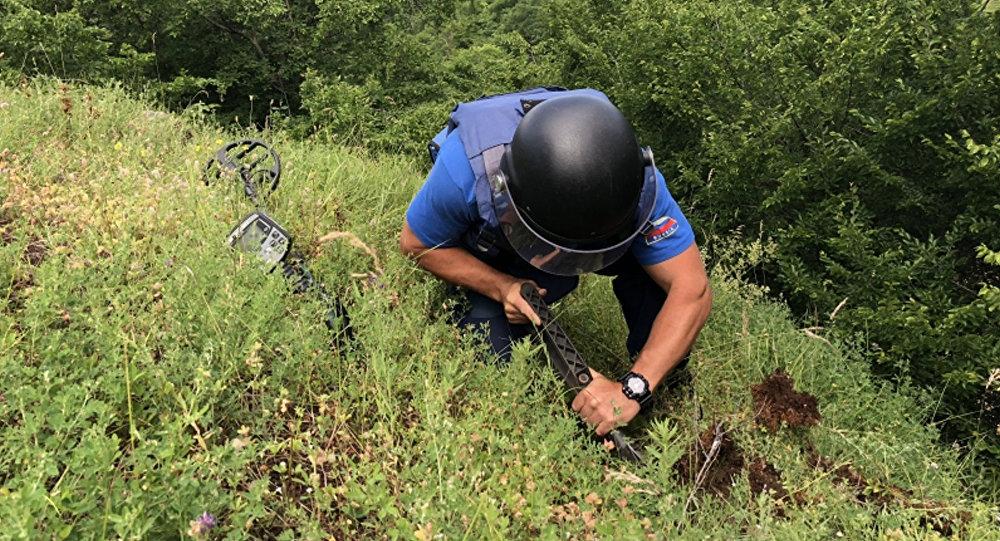 В Козельском районе снова нашли мину