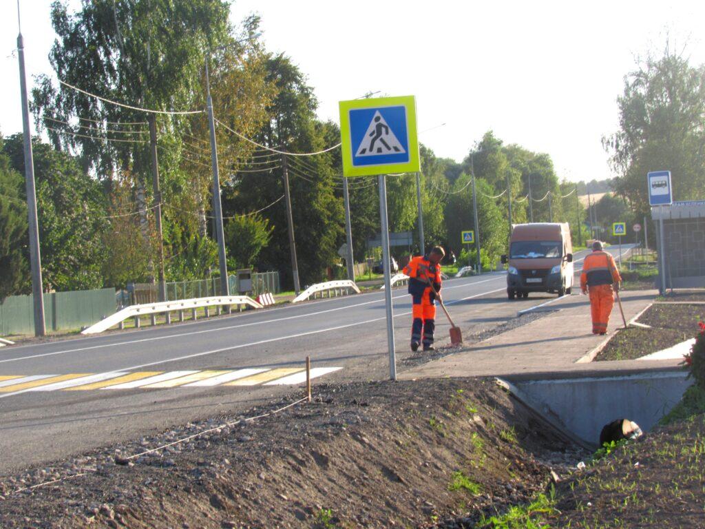 """Дорога """"Калуга – Козельск"""" будет освещена полностью, а пока завершается реконструкция в Подборках"""